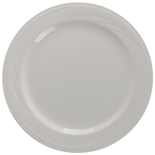 Syracuse® Cascade™ Mid-Rim Warm White China Luncheon Plate - 9