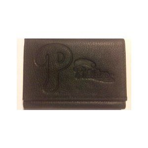 (MLB Philadelphia Phillies Tri-Fold Leather Wallet, Black)