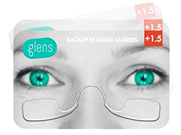 9132212d5347 Glens Backup Reading Glasses Correction Strength +1.5 +2 +2.5 (3 Pack  Classic