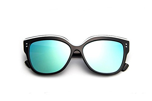 Wild sol de Cat's gold colorido Moda sol gafas Bright sol gafas Eye señoras GLSYJ tendencia retro LSHGYJ black de gafas de gafas OAUwBOq