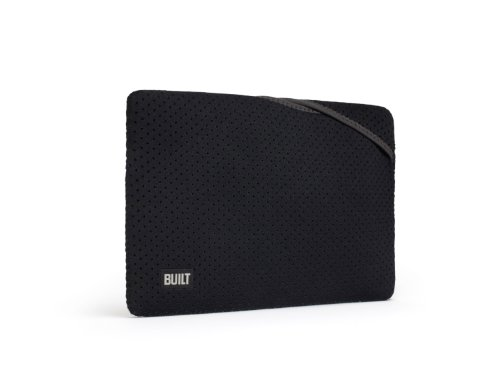 BUILT Neoprene Twist Top Sleeve for 11-inch MacBook Air, Black and Charcoal