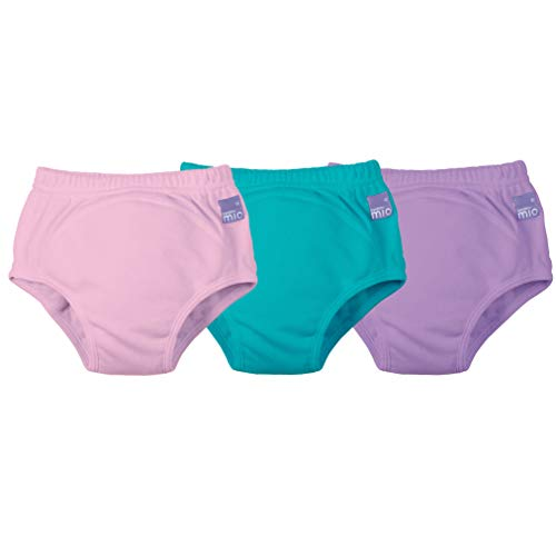 Bambino Mio, potty training pants, mixed girl teal, 2-3 years, 3 pack