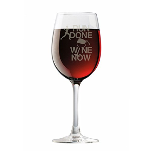 Marathon Pique - Gone For a Run Run Done Wine Now Female Engraved Wine Glass | Wine Glasses By 19 oz.