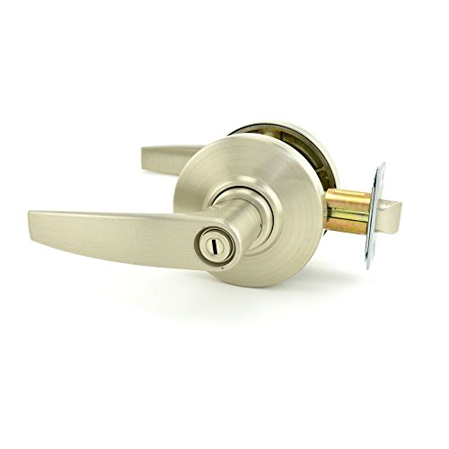Schlage commercial AL40JUP619 AL Series Grade 2 Cylindrical Lock, Privacy Function, Jupiter Lever Design, Satin Nickel Finish by Schlage Lock Company