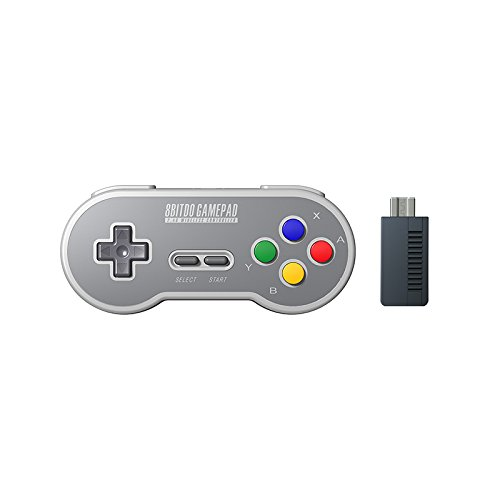 HIOTECH Wireless Controller 2.4GHz Wireless 8Bitdo SN30 Classic Video Game Joystick Gamepad for Super NES / SFC / SNES Classic Edition (Color)) by HIOTECH