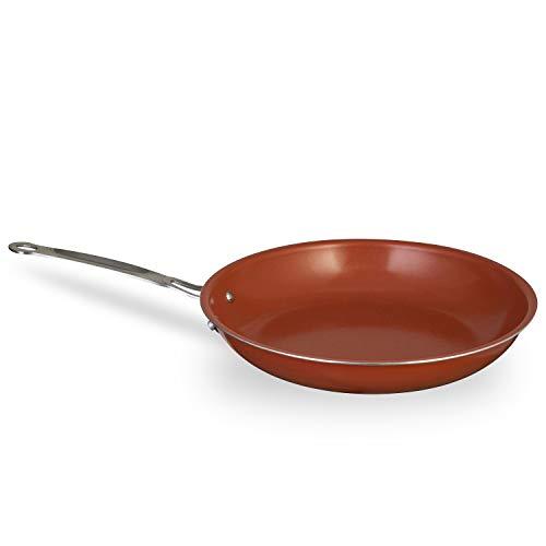 Chefs Star Ceramic Non-Stick Titanium Frying Pan - 9.5 - Copper/Gray