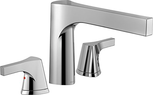 (Delta Faucet T2774 Zura 3-Hole Roman Tub Trim, Chrome)