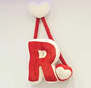 Hanging letters made of small fur