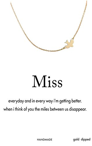"""Bowisheet Wish Card """"Miss"""" Layer Choker Necklace Lucky Dove Pendant Necklace Animal Chain For Woman Jewelry"""