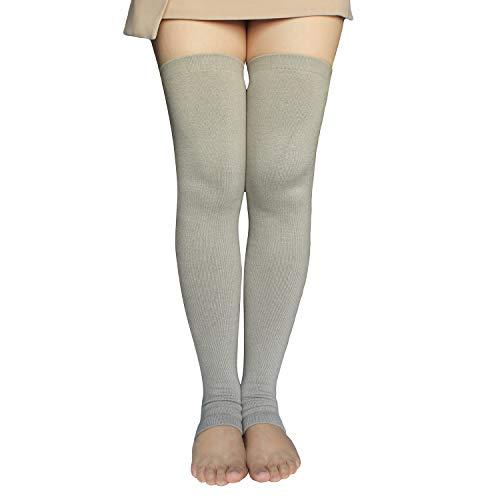 Share Maison Women's Cashmere Wool Winter Warm Knitted Over Knee High Boots Long Socks Leg Warmers (1-Beige)