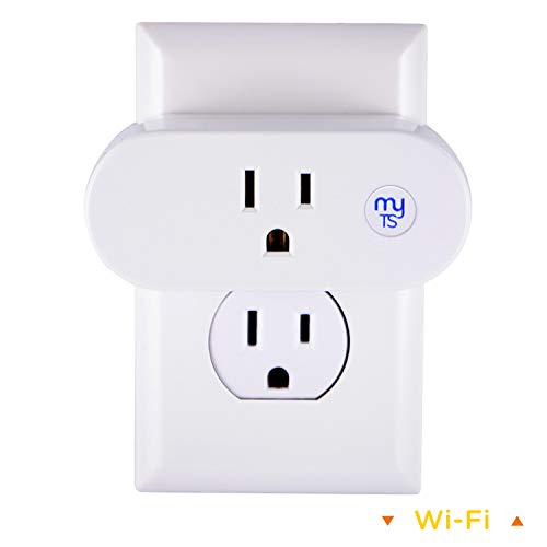 (myTouchSmart WiFi Smart Plug, Indoor Mini Outlet, No Hub Required, On/Off Control, Presets, Schedule Seasonal Lights, 1 Touch Programming, Wi-Fi Switch Works with Alexa, Google Assistant, 39844)