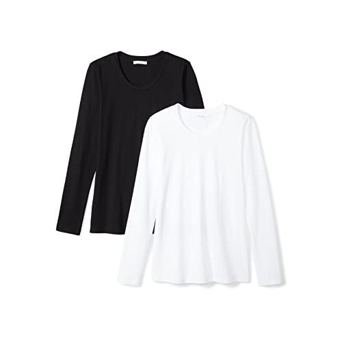 Daily Ritual Women's Lightweight 100% Supima Cotton Long-Sleeve Crew Neck T-Shirt, 2-Pack for cheap