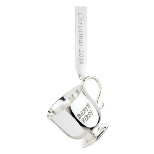 Barton Classic Baby Cup - Reed & Barton CW739 Baby's First Christmas Cup 2014 Year Marked Ribbon, 1.5-Inch