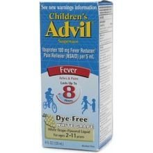 Pfizer Advil Childrens Ibuprofen Fever Reducer Pain Reliever Oral Suspension Liquid, 4 Fluid Ounce - 36 per case.