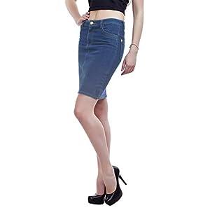 PepTrends Women's Black Denim Skirt(XS-XL Size)