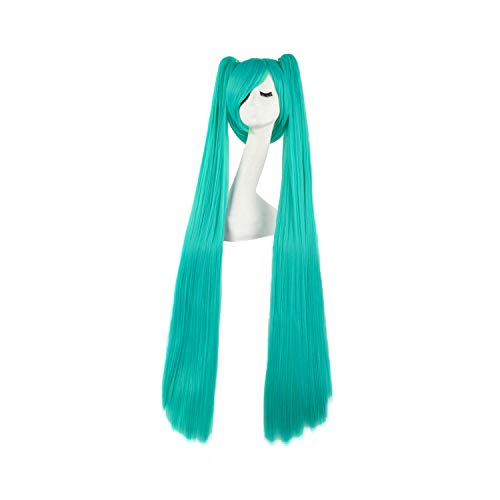 Hatsune Miku Cosplay Costumes With Wig - MapofBeauty 47 Inch/120cm Beautiful Long Straight
