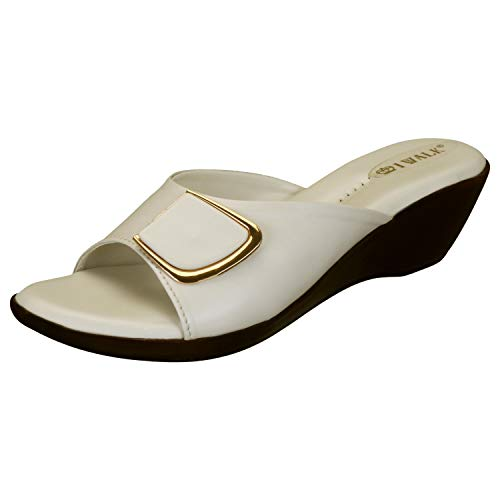 31rbaOGsrRL. SS500  - 1 WALK Comfortable Women-Flats/Fashion Slippers/Casual Footwear/Party slippers/MP-E101(A,B,C,D,E,)-$P