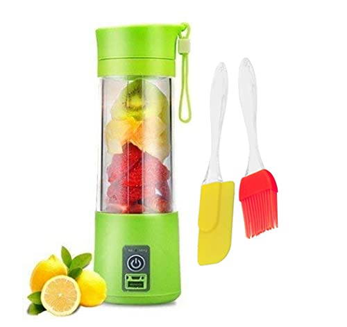 KBR™ Portable Blender, Rechargeable USB Juicer Cup,with 4 Blades With Free Silicon Spatula Oil Brush ( Multicolor)Sold…