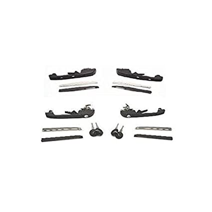 Set of 2 Exterior Door Handles New Front Right-and-Left for VW LH & RH Pair Auto Parts and Vehicles