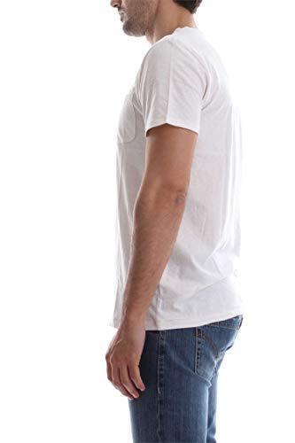 Homme Lightweight Dm0dm04130 shirt Tommy Blanc Pocket Jeans T 8BYnWAq6W