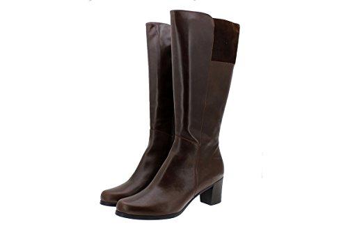 Cuero En Botte 175875 Chaussure Piesanto Xxl Mollet tan Confort Cuir Femme Large qwvtg6a