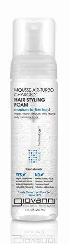 GIOVANNI Mousse Air-Turbo Charged Hair Styling Foam, 7 oz. , Lightweight for Natural Curls, Medium to Firm Hold, Wash & Go, No Parabens, Color Safe (Pack of 3) 1