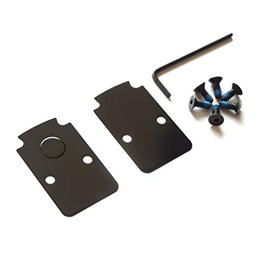 DPP Titanium Mounting Kit/Anti Flicker Sealing Plate Kit for Trijicon RMR Fit Glock MOS and Springfield OSP Models (Black)