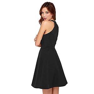 Tfunny Fashion Women's Knee Length Skater Dress