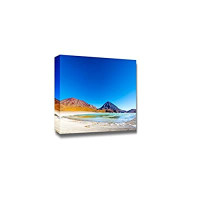 Beautiful Landscape Scenery Wide Angle View of Laguna Verde or Green Lake at The Base of Licancabur Volcano - Canvas Art Wall Art - 24