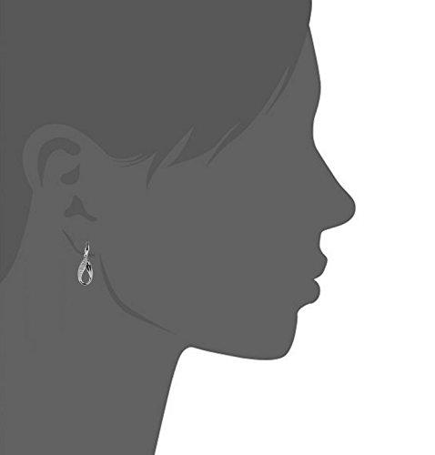 blackbox Jewelry Sterling Silver White Cubic Zirconia Drop Stud Earrings