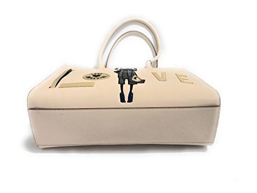 Moschino - Bolso al hombro para mujer blanco marfil