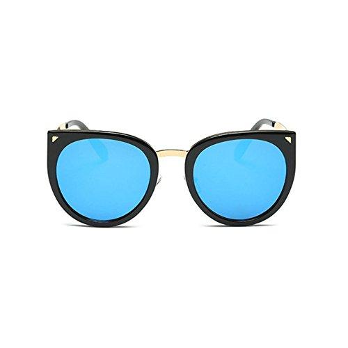 Aoligei L'Europe et les États-Unis mode métal quatre lentilles lunettes de soleil personnalité marée personnes Petites entreprises CW2DyevkO