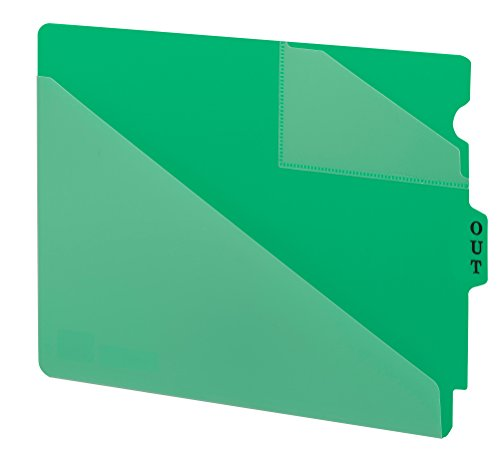 Smead End Tab Poly Out Guide, Two-Pocket Style, Center Position Tab, Extra (Style Vinyl Tab Out Guides)