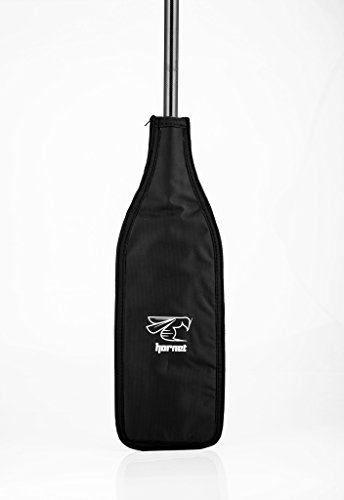 Hornet Watersports Blade Cover for Dragon Boat Paddle (Black/Black/Silver)