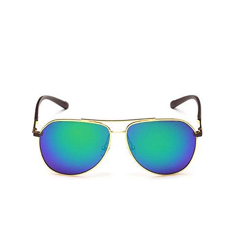 Hombres E de Brillantes polarizadas Sol Gafas Face Gafas Retro Color Lentes de para Sol para Gafas Round con de D Hombre Sol q0fvw0z1