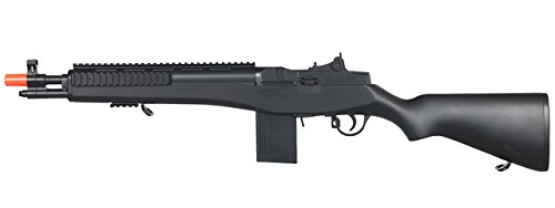 Double Eagle M14 Socom RIS Carbine Spring Airsoft Gun (Black) (M14 Socom Spring Rifle)