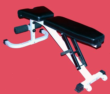 Flat, Incline, & Decline Bench w/ Wheels by TDS