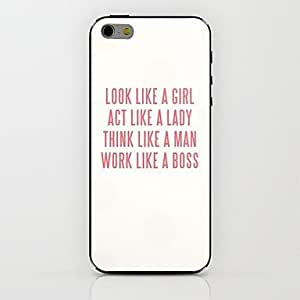 JAJAY Look Like A Girl Pattern hard Case for iPhone 6