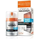 L'Oreal Men Experts White Active 4 Whitening Moisturiser 50 Ml With Free Ayur Sunscreen 50 Ml