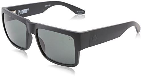 Spy Optic Cyrus Flat Sunglasses, Matte Black/Happy Gray/Green, 58 mm
