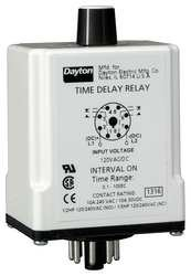 Dayton 1EGC7 Relay DPDT Time Delay Interval Delay