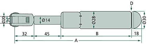Gasdruckfeder Kompatibel Mit Fendt Und Fritzmeier Baumarkt