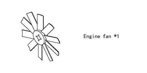 Engine fan 4980795 for diesel engine: