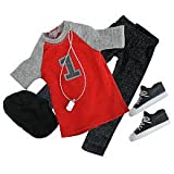 Justin Bieber Doll 7 Piece Fashion Pack – Red Shirt and Stylin' Accessories, Baby & Kids Zone
