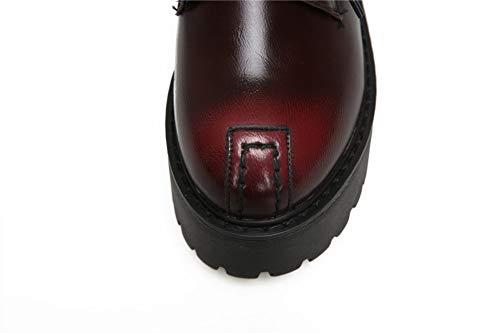 Rouge Bordeaux SDC05518 EU Sandales 5 36 Femme Compensées AdeeSu wqPTfIy