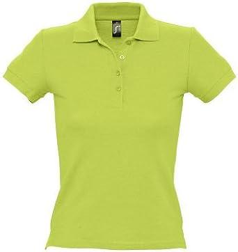 Sols - Polo - para mujer Verde Verde Manzana: Amazon.es: Ropa y ...