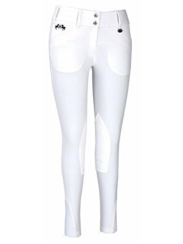 Equine Couture Women's Regatta Knee Patch Breech, White, 36
