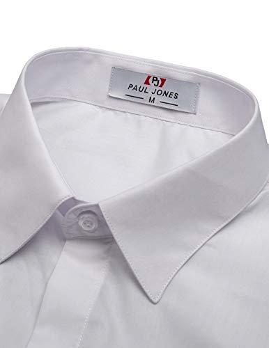 bc1963ef290 Paul Jones Mens Casual Lapel Neck Dress Shirts Size S