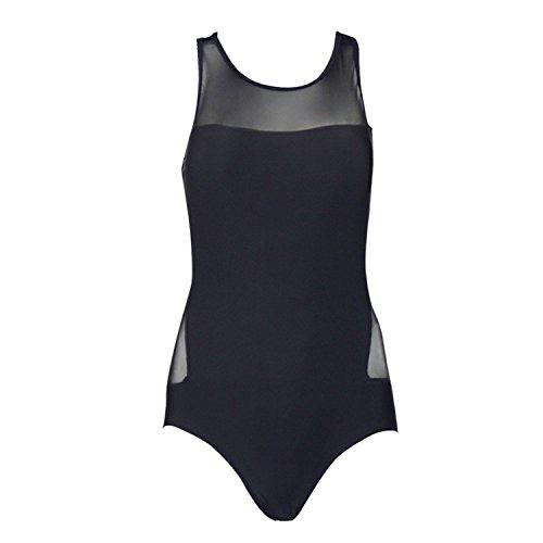 Spiaggia Donna Intero Beachwear Nero Netto Nero Schienale Elegante Costume Costumi Push Estiva Tankini Bagno Trasparente Mare Sottile Senza Filato Up Bikini Da qIEwPxSv6