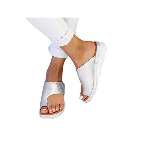 (Women's Aditi Low Wedge Casual Flip Flops Wedges Open Toe Ankle Sandals Platforms Beach Shoes Roman Slippers )